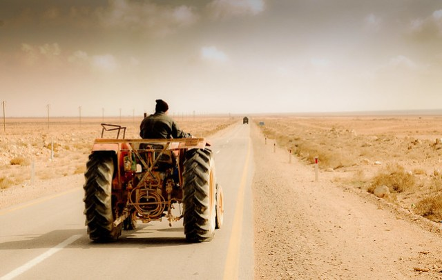 Following a tractor into nothingness