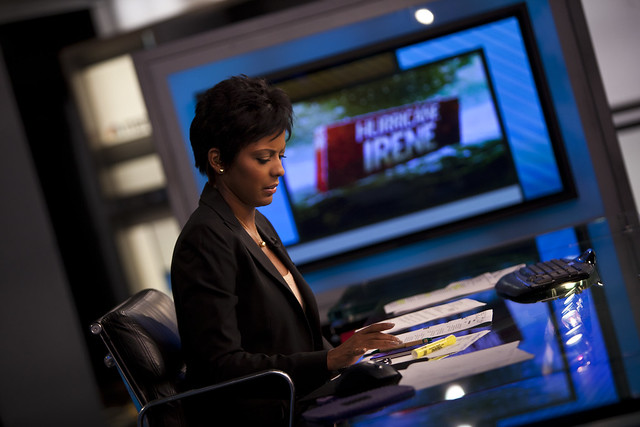 Behind the scenes: MSNBC's Tamron Hall during Hurricane Irene coverage
