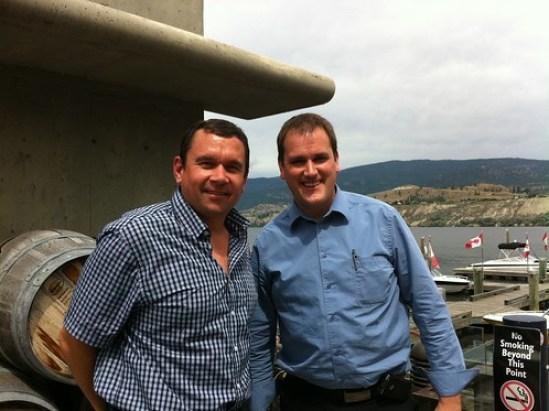 Mike Klassen with MP Dan Albas