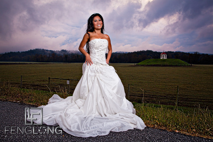 Roadside Beauty   Khammy's Bridal Portrait Session   Anna Ruby Falls   Helen, GA Wedding Photographer
