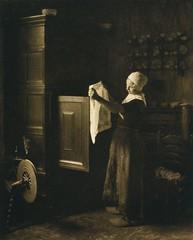 Am Linnenschrank, 1906, by Dr. L. Kleintjes
