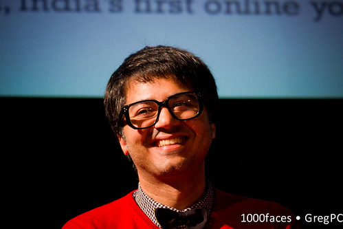 Face - @parmeshs smiling man with bow tie and glasses