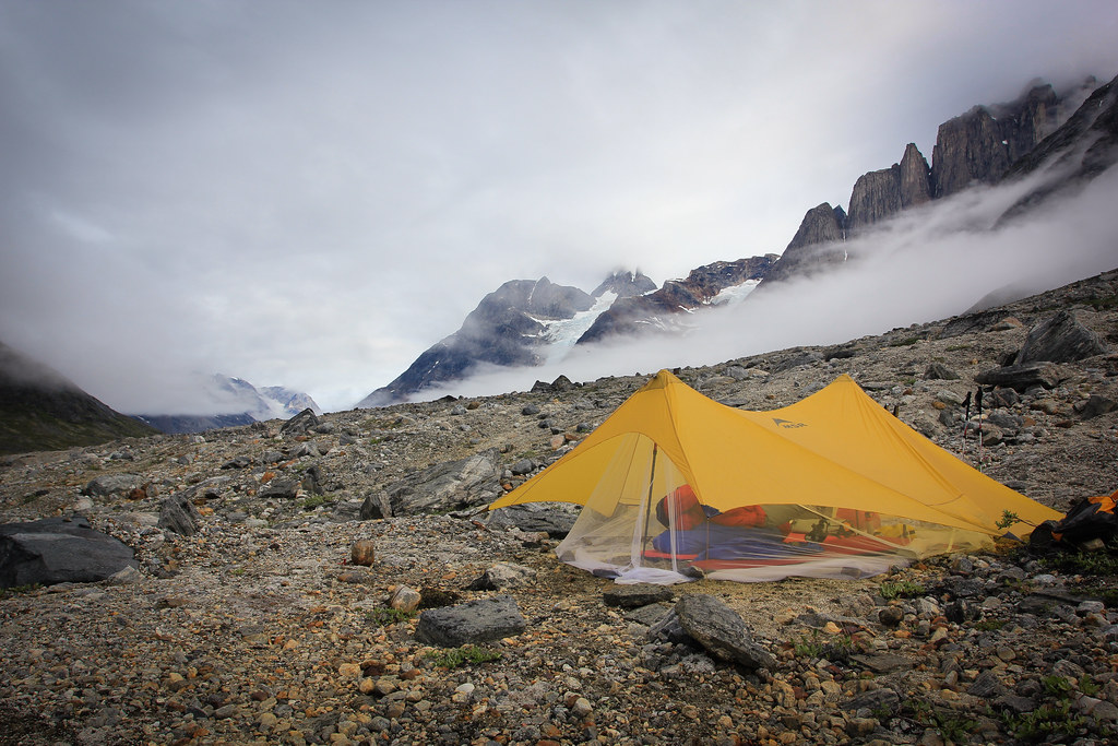 MSR Twing Tarp with custom adapted bug net,  Tasilap kua Valley, East-Greenland