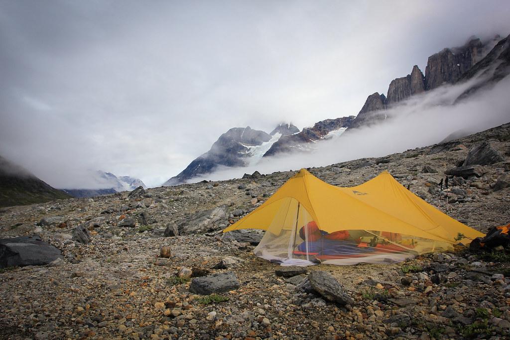 MSR Twing Tarp with custom adapted bug net,  Tasilap kua Valley, East-Greenland