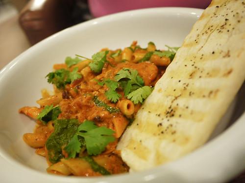 Shrimp and Chorizo Pasta at Cafe Uma