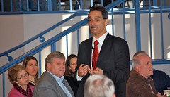 Habib Dagher of the University of Maine presents at the 2012 Maine STEM Summit.