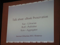 Talk about: eBook Preservation