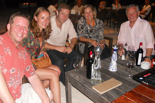 Tulum wine-tasting - Claire and Nick from London and Jan and Trevor from Australia