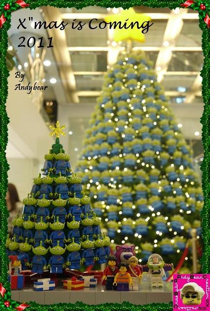 The Little Green Men Xmas Tree
