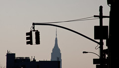 View of the Empire State Building from Queens Boulevard - Sunnyside, NYC