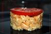 Arroz con calamares y tejado de tomate