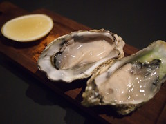 Pacific Oyster 70mm, naturally farmed in Marlborough Sound, New Zealand, Graze at Martin No. 38, Martin Road