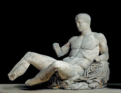 Dionysos, east pediment of the Parthenon, c 438-432 BC, photographer unknown
