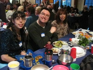 Turkey Free Thanksgiving: Wendy, Matt, and a new friend