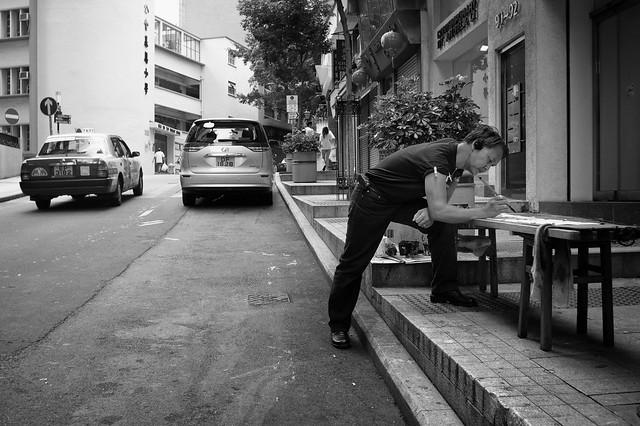 Street calligrapher