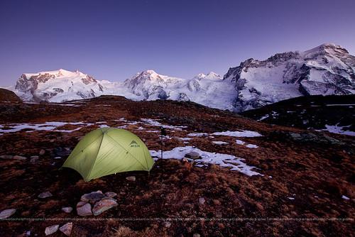 Camp sur les hauts du Riffelsee