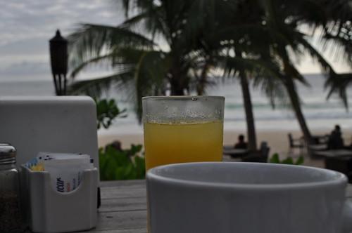 Tulum breakfast by the beach
