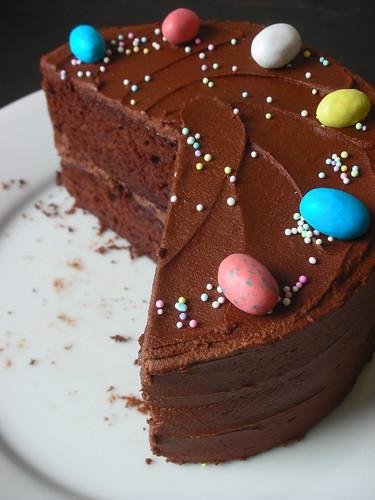 cocoa-buttermilk birthday cake
