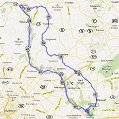 wc-02. Bike Route Map. Washington Crossing State Park.
