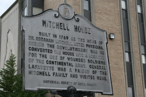 Historic marker for Mitchell house in Elkton, MD