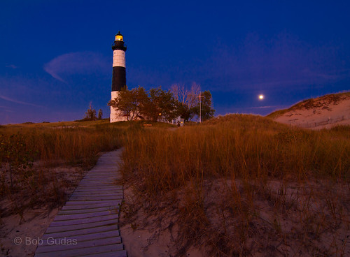 Big Sable Moon Rise