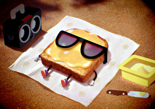 Sun-burnt toast by Anais Watterson