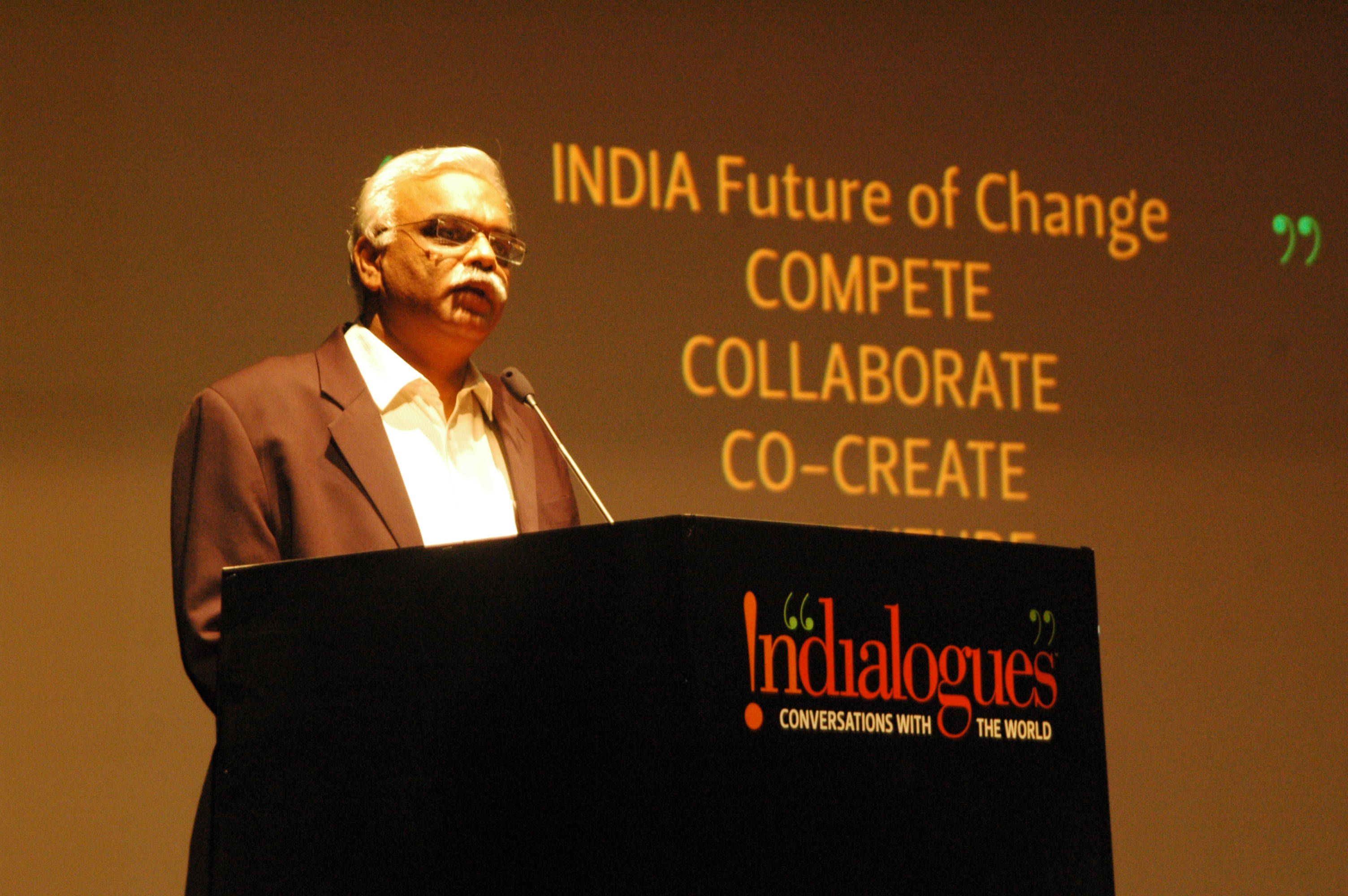 Amit Shahi, founder Idea Works and initiator of Indialogues welcoming