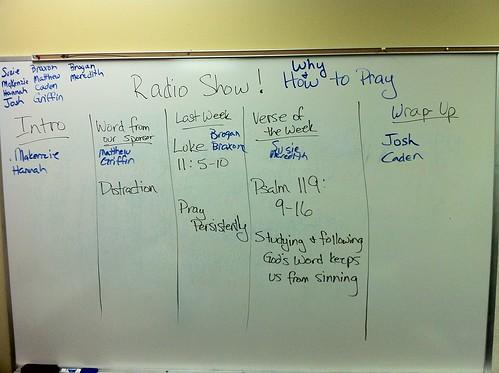 Radio Show Plan