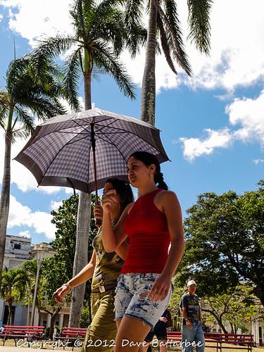 Promenading in Parque Vidal