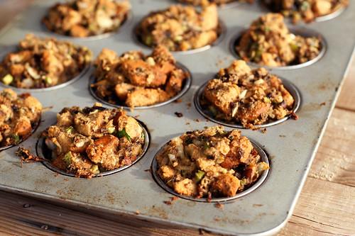 Gluten-Free Mushroom Stuffing Muffins (Vegetarian)
