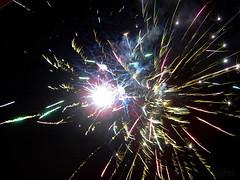 Castillo de fuegos artificiales cremà en La Coma