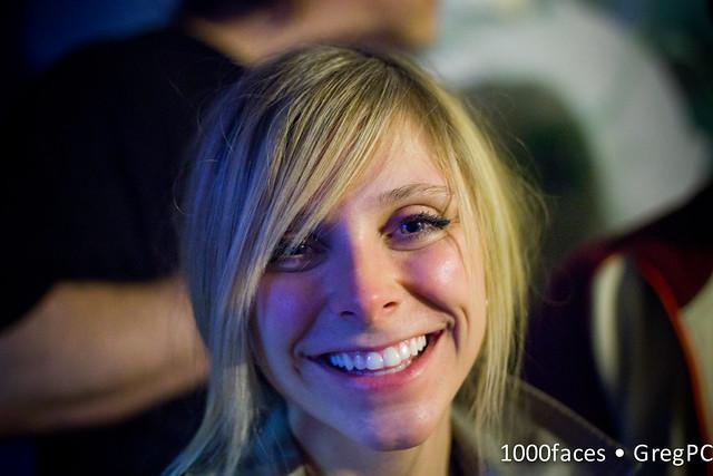 Face - cute woman with a pretty, pretty smile