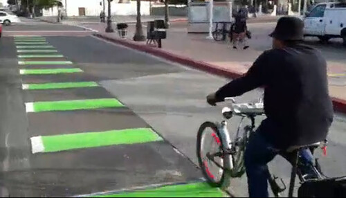 First Street bike lane video snap shot