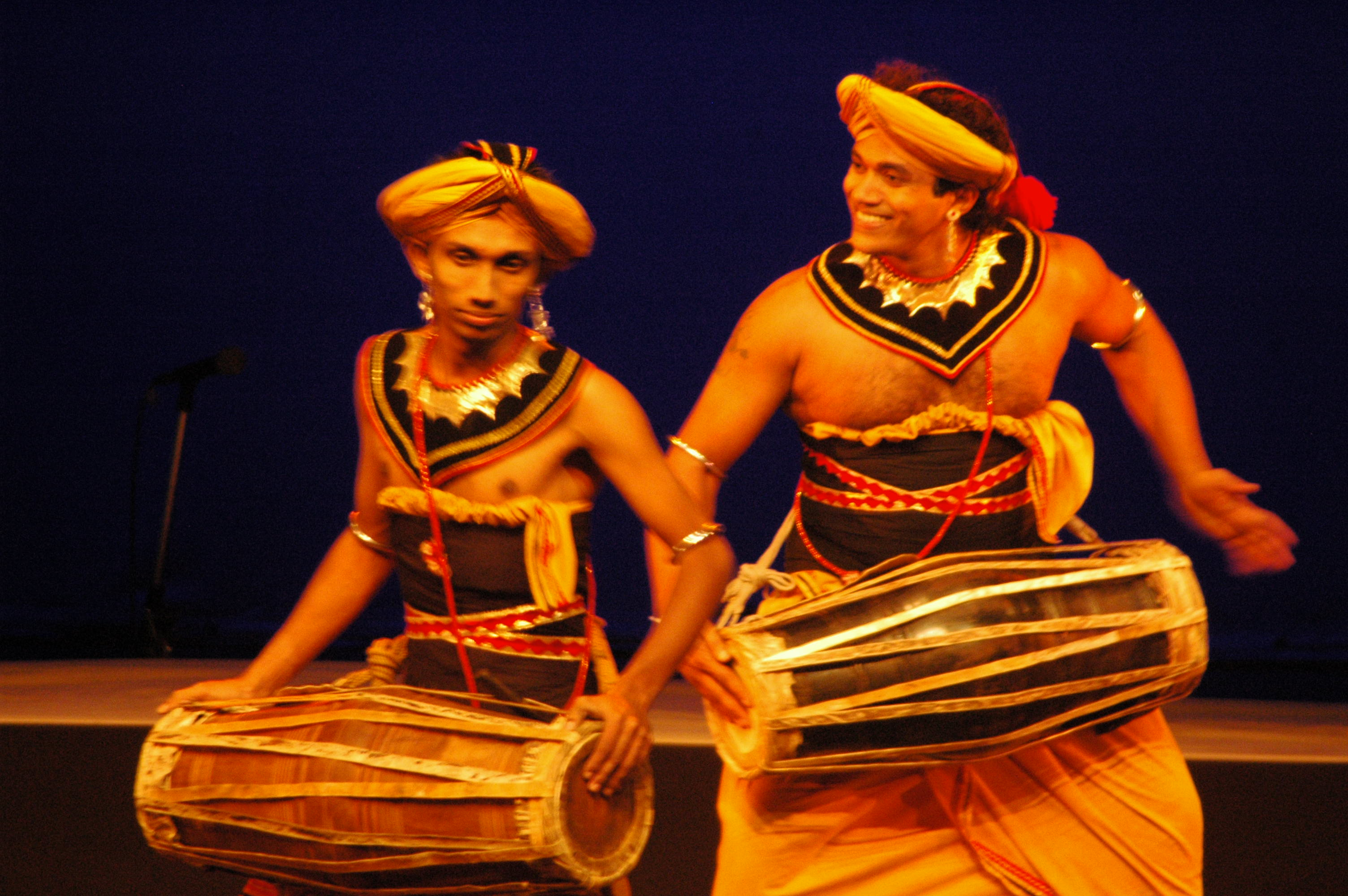 traditional folk percussion dance, Srilanka