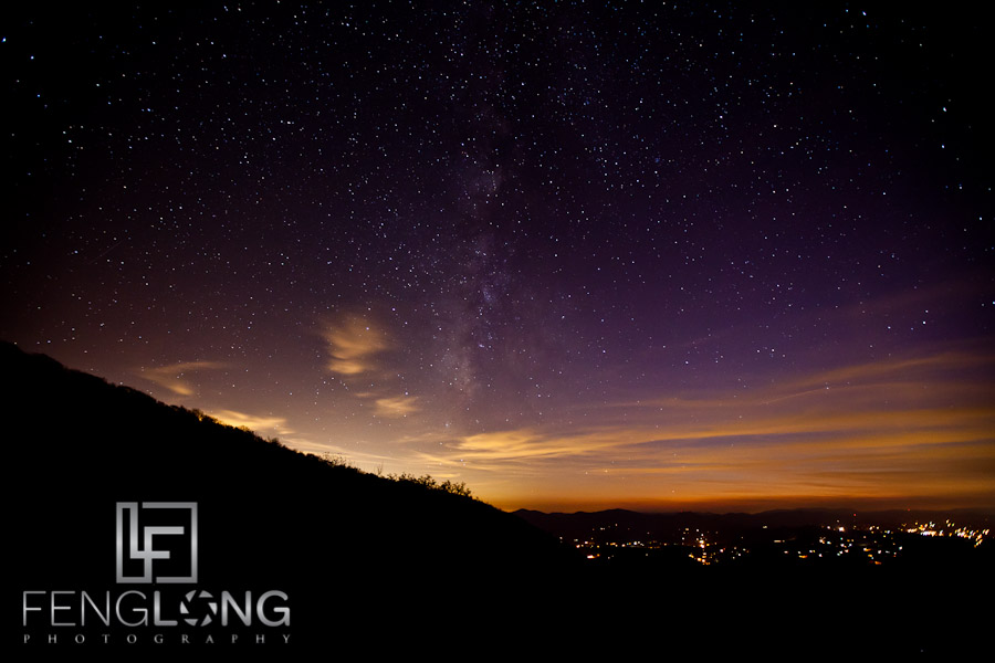Milky Way Astrophotography at Brasstown Bald 10/26/11
