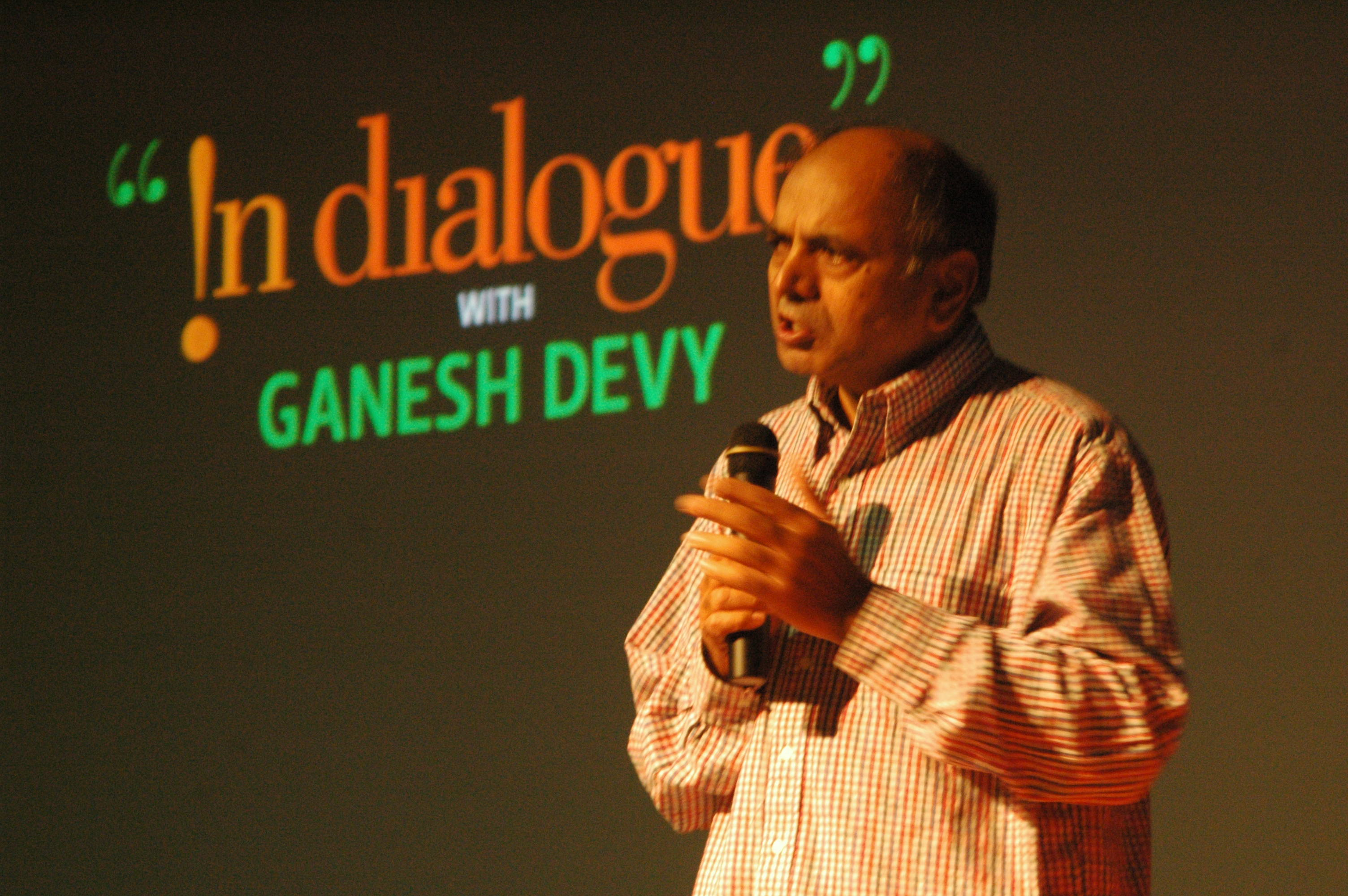 Ganesh Devy : literary critic and activist working for tribal welfare