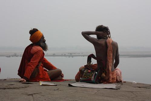 Sadhus at Ganges