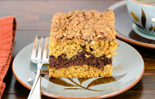 Pumpkin-Chocolate Coffee Cake