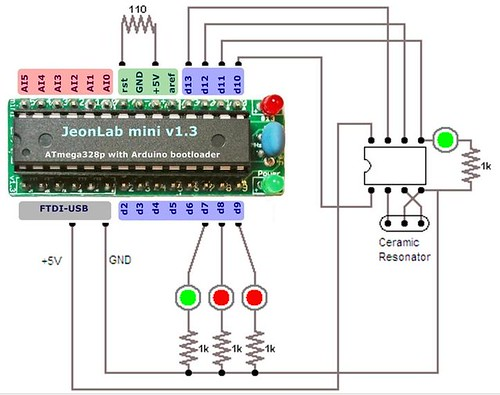 ATtiny programmer with JeonLab mini