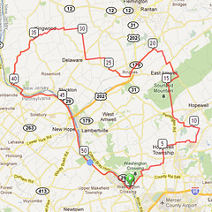 wc-21. Bike Route Map. Washington Crossing State Park.