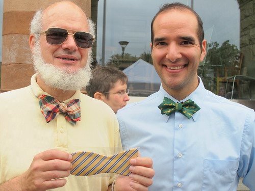 Two men with three bowties