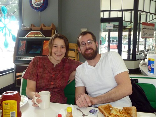 Elizabeth and Carl at Merry Ann's Diner