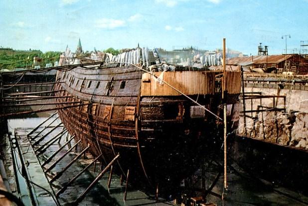 Stockholm - Vasa During Reconstruction (Postcard)
