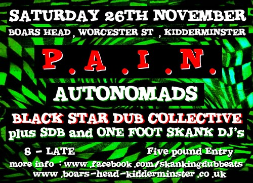P.A.I.N - Sat 26th Nov 2011 Boars Head, Kidderminster