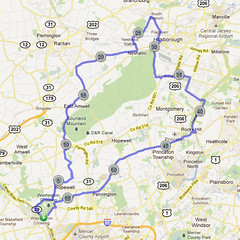 wc-01. Bike Route Map. Washington Crossing State Park.