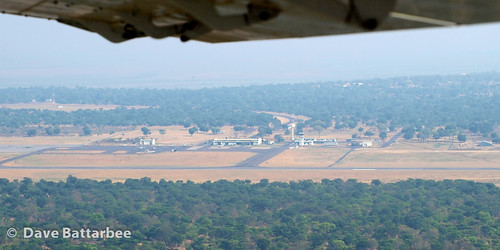 Kasane Airport from the air