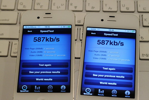 SoftBank vs KDDI - Get even.