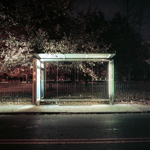 Bus Stop. Lorimer and Driggs. Williamsburg, Brooklyn.