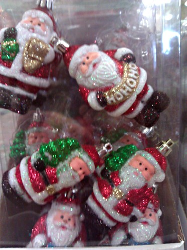 Santa tree ornaments at a Home Depot in DC, November 20, 2011