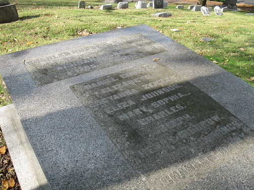 Tombstone of Charles Russell Greene, Woodland Cemetery